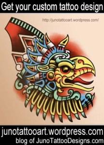 aztec eagle tattoo design-custom design