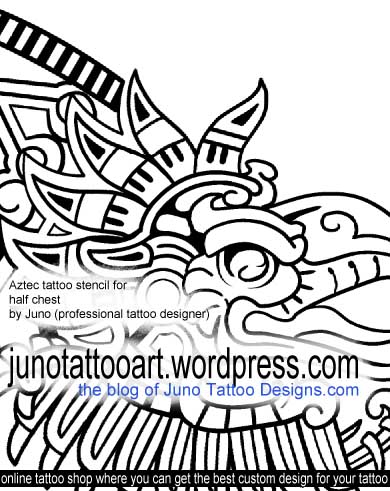 Aztec Tattoos | Custom Tattoos made to order by Juno