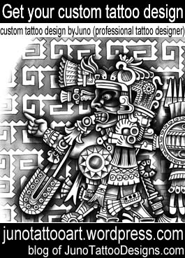 aztec tattoo-tezcatlipoca tattoo-custom design