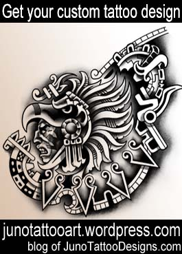aztec warrior tattoo-chest tattoo-custom design