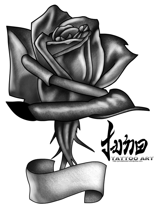 Black Rose tattoo. Posted on October 18, 2010 by Juno Tattoo Art