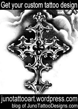 cross tattoo-custom design