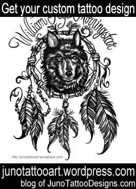 dream catcher tattoo-arm tattoo-custom design