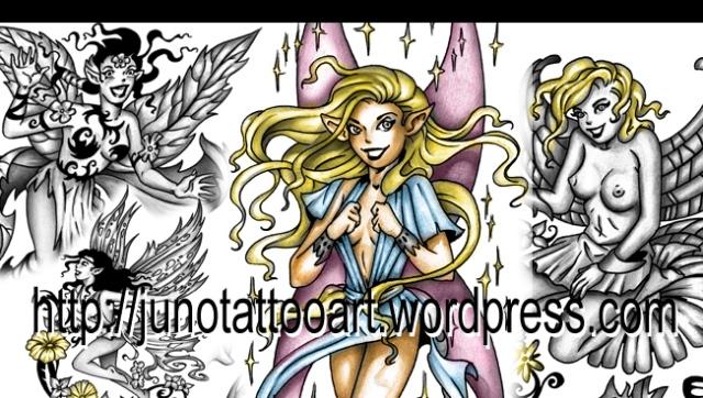 fairy tattoo-pinup tattoo