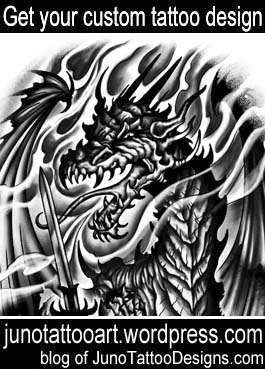 fantasy dragon tattoo-arm tattoo-custom design