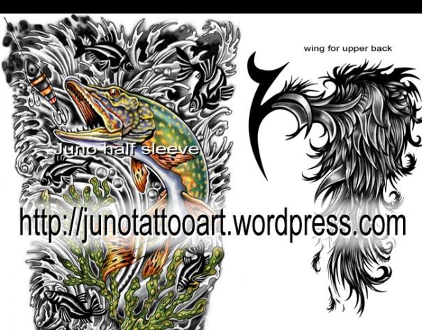 Wings Tattoo ,feathers tattoo, koi fish tattoo, custom tattoo, tattoo design, arm tattoo,entire sleeve tattoo, full sleeve tattoo