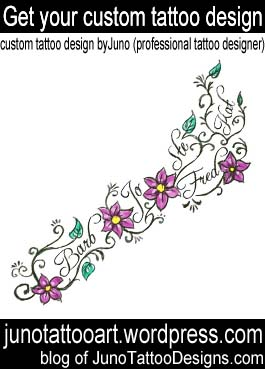 foot tattoo-flowers feminine tattoo-custom design