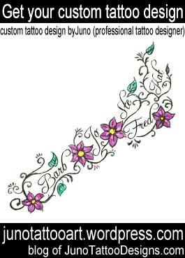 foot tattoo-flowers feminine tattoo-custom design