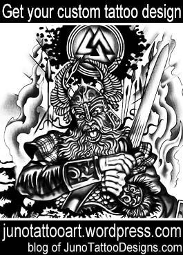 hermann king tattoo-viking warrior tattoo-sleeve tattoo-custom tattoo