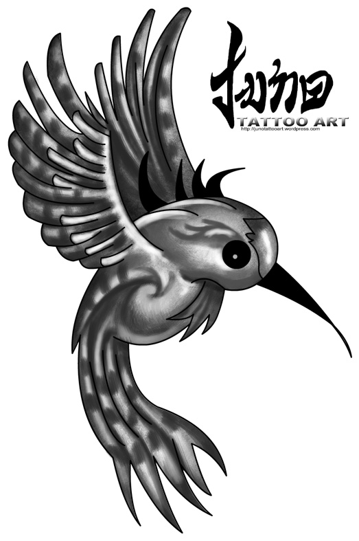 Humming bird tattoos come in different designs.