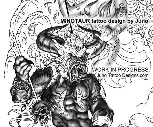 minotaur_tattoo_design_junotattoodesigns.com