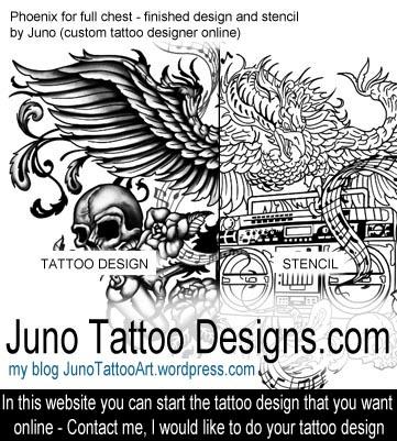 juno tattoo art professional tattoo designer online blog of custom. Black Bedroom Furniture Sets. Home Design Ideas