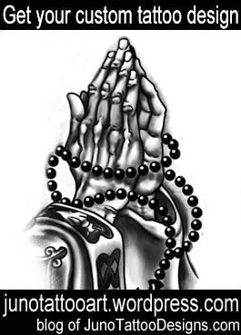 praying hands tattoo-custom design