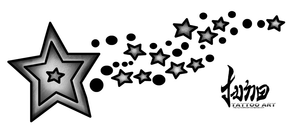 shooting stars tattoo. shooting star tattoos art