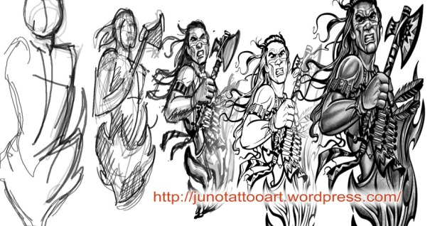 indian chief tattoo, tattoo sketch, indian warrior tattoo