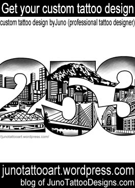 Tacoma city tattoo-numbers-tattoo-custom design