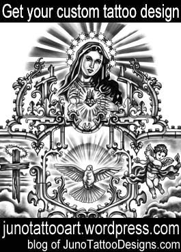 6a84fcf76 ... Virgin Mary tattoo-cathedral ornaments tattoo-custom design ...