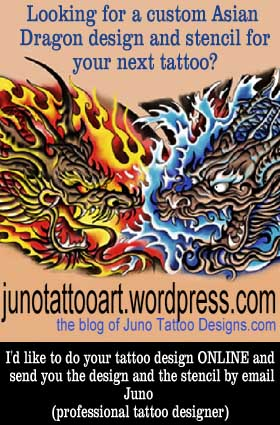 asian dragon head tattoo designer online