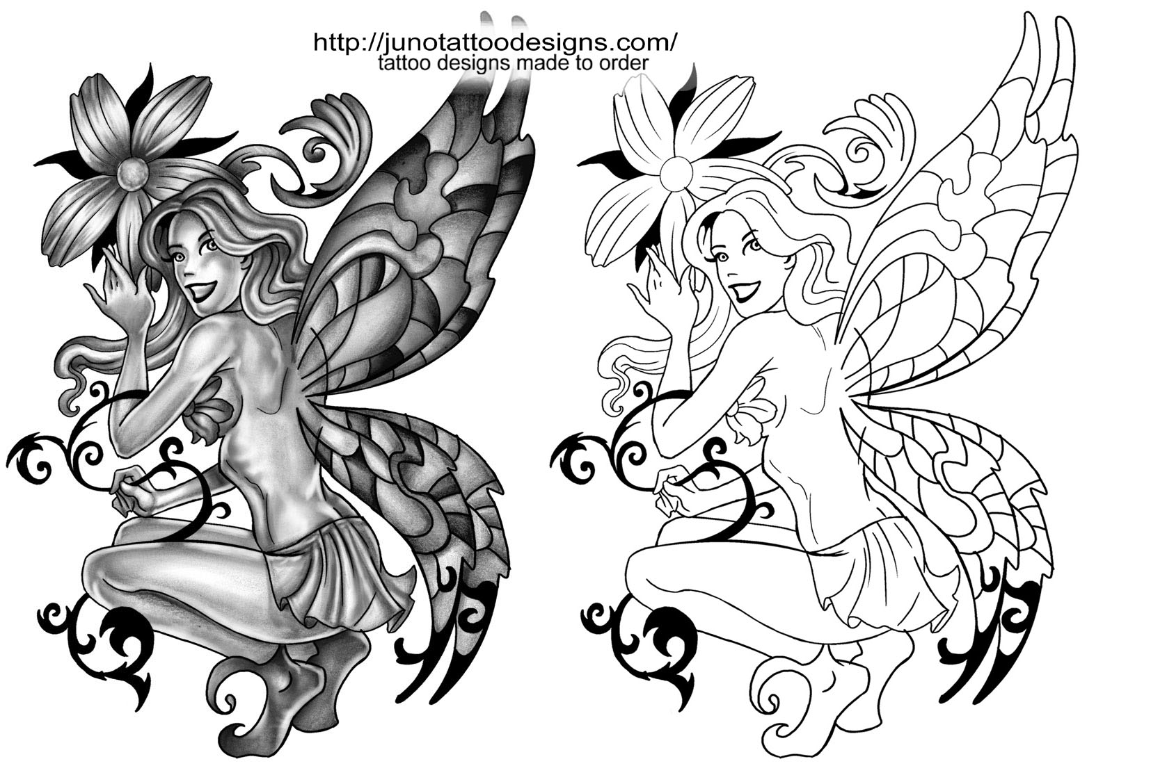 Fairies tattoos designs - Fairy Tattoos By Juno Fairy_tatto_design_with_flower_free