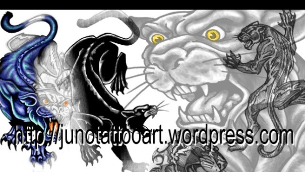 panther tattoo, black panther tattoo, male tattoo