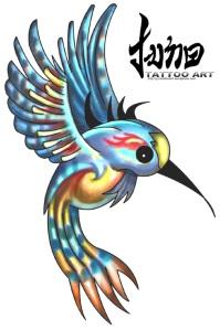 new shool tattoo - humming bird tattoo, bird tattoo