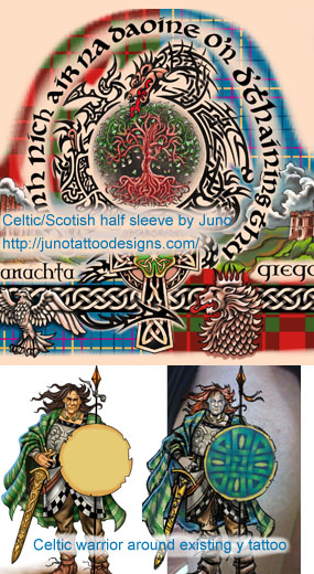 celtic tattoos, celtic warrior tattoo,scottish tattoo