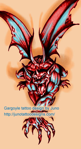 gargoyles tattoos, gargoyle tattoo, gargoyle face tattoo, decorative gargoyle tattoo,tattoos of gargoyles