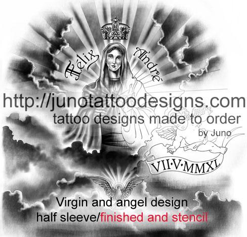 Virgin Mary tattoo,religious tattoo