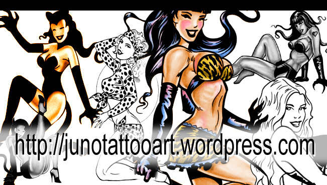 pin up girls tattoo designs | Custom Tattoos made to order by Juno ...