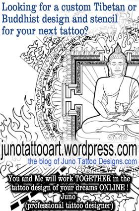 tibetan tattoo stencil, tibetan sleeve for arm