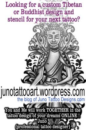 young buddha custom tattoo