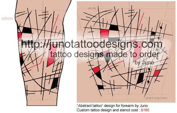Abstract tattoo, tattoo design for forearm, sleeve tattoo, forearm tattooCustom tattoo, tattoo design cost