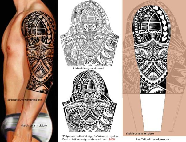 polynesian tattoo design for sleeve by Juno