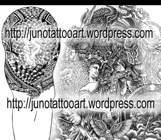 sleeve tattoos,polynesian tattoo,geometric tattoo,geometrical tattoo,greek mythology tattoo,angel tattoo,minotaur tattoo,spartan warrior tattoo,pegasus tattoo,zeus tattoo