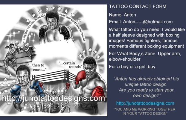 portrait tattoo, boxing tattoo, portrait tattoo, arm tattoo, sleeve tattoo, sport tattoo