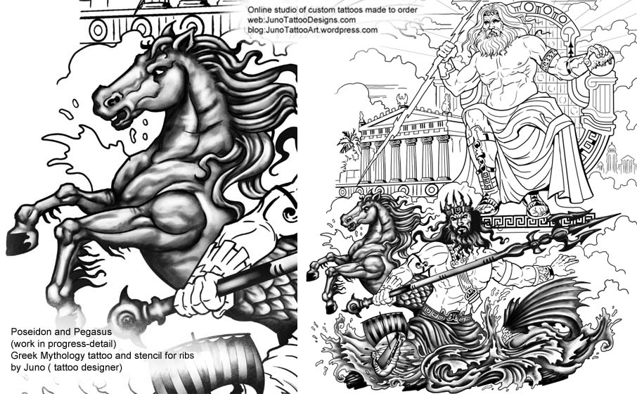 Greek Mythology Tattoos  Custom Made To Order By Juno
