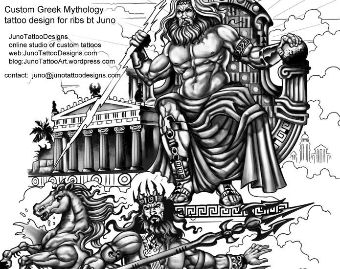 Greek God Hades Tattoos
