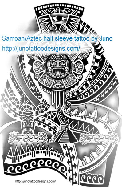 samoan tattoo,aztec tattoo,sleeve tattoo