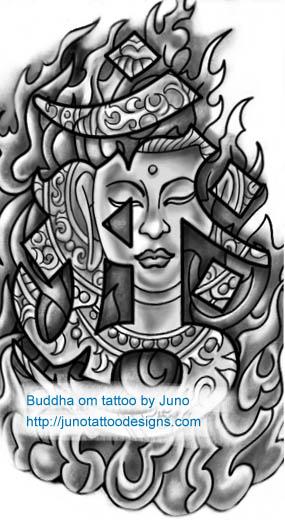 Buddha tattoo, om tattoo, tibetan tattoo