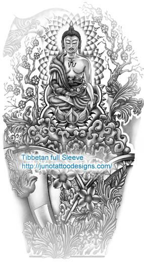 Buddha tattoo, buddha design, buddhist tattoo