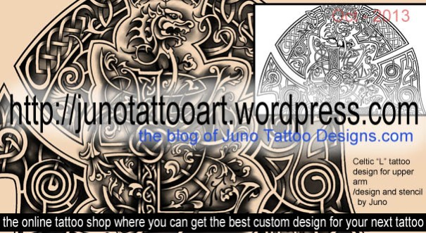 celtic font,celtic tattoo,tattoo for shoulder , L font tattoo,stencil tattoo,tattoo stecil