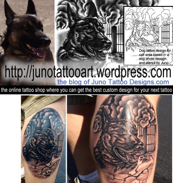 Dog tattoo,inked job,custom tattoo design,tattoo stencil.