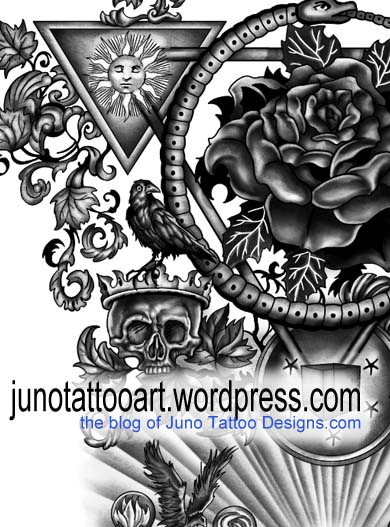 esoteric tattoo -detail -by Juno tattoo designer