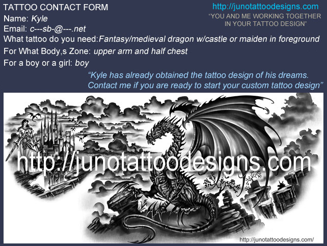 Dragon tattoo for chest and arm