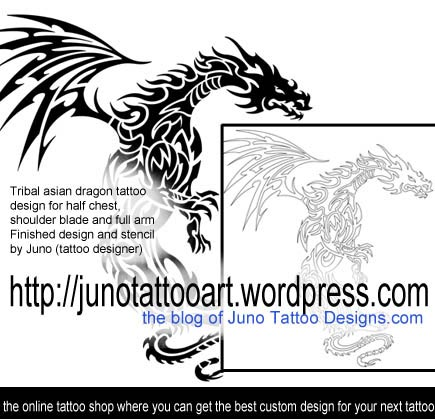 tribal dragon tattoo,asian dragon tattoo,dragon tattoo,japanese tattoo,tattoo stencil,dragon stencil