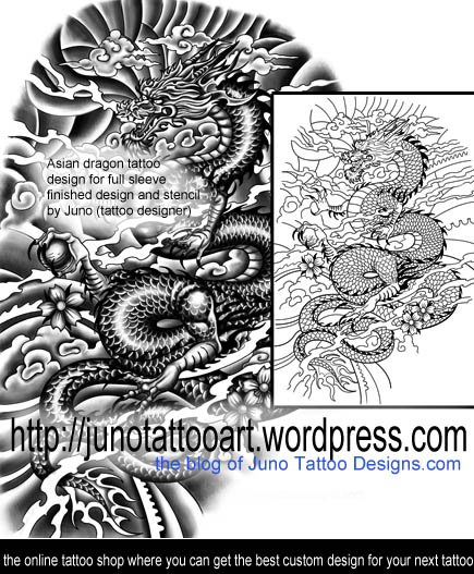 asian dragon tattoo.japanese dragon tattoo,full sleeve tattoo,full arm tattoo,tattoo stencil,masculine tattoo