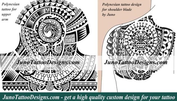 polynesian samoan tattoo, tattoo arm, shoulder blade tattoo, juno tattoo designs