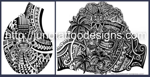 Samoan polynesian tattoos