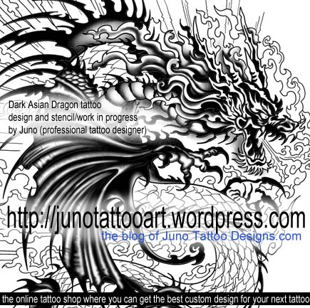 asian dragon tattoo, dark dragon tattoo, japanese dragon tattoo,arm tattoo, chnese tattoo dragon tattoo, sleeve tattoo, tattoo stencil, custom tattoo