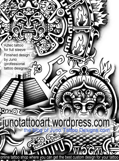 aztec tattoos juno tattoo art professional tattoo designer online. Black Bedroom Furniture Sets. Home Design Ideas